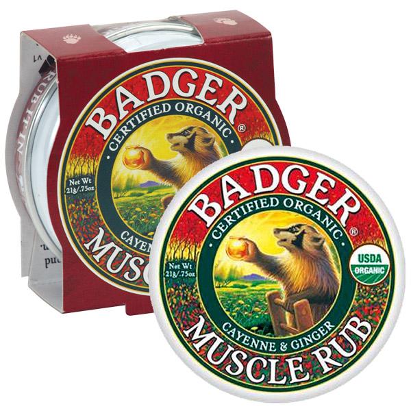 badger muscle rub balm cream sore hand cayenne ginger mini 21g foot