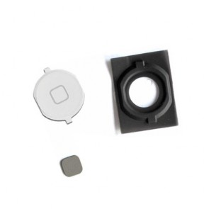 iPhone 4S 4GS Home Button with Spacer Plastic Parts White