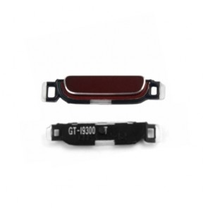 Phone Links: Garnet Red Home Button Keypad Part For Samsung Galaxy S3 i9300