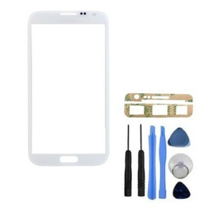 BisLinks® New White Front Glass Screen Lens Cover for Samsung Galaxy Note 2 N7100 + Tools