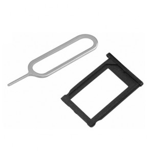 SIM CARD HOLDER TRAY BLACK + EJECT PIN SLOT TOOL FOR iPHONE 3G 3GS