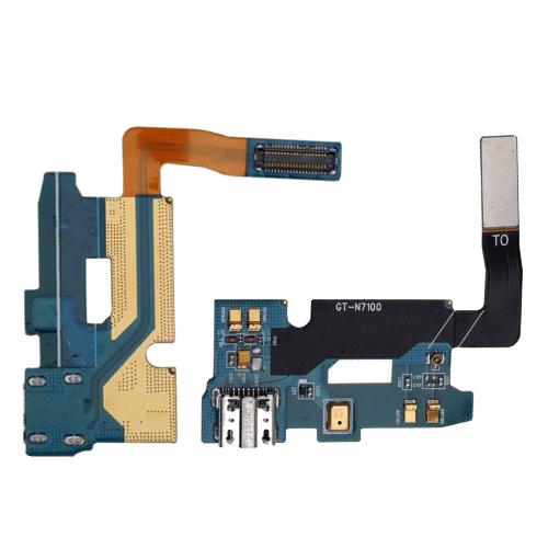 USB-Charging-Dock-Port-Flex-Cable-Con-Mic-Para-Samsung-Galaxy-Note-2-II-N7100