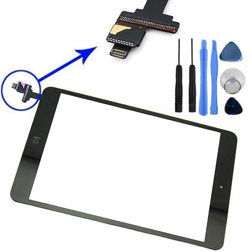 Details about Black Touch Screen Digitizer Lens With IC Connector Flex  Cable For iPad Mini UK
