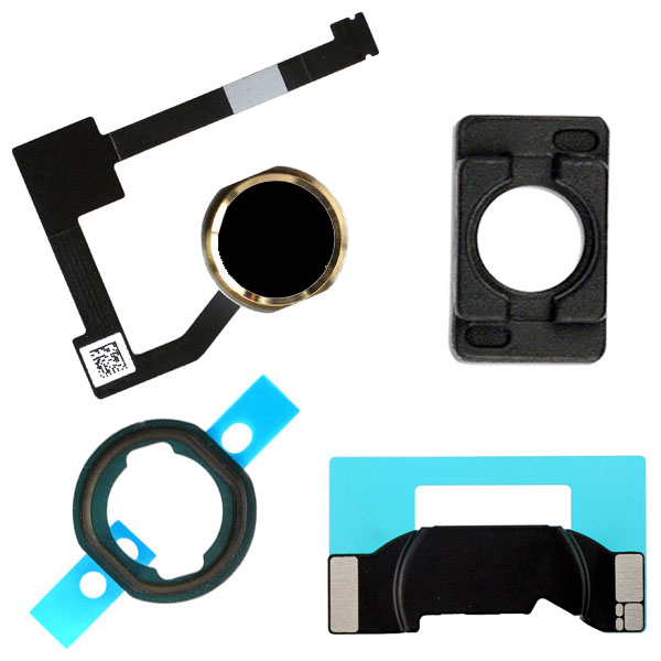 Mini 4 Pro 12.9 1st Home Menu Button Flex Cable Gold iPad Air 2