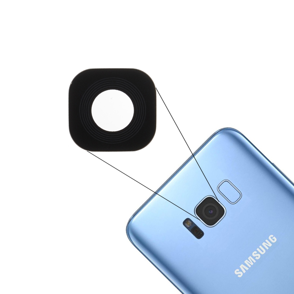 Adhesive /& Repair Tool for Samsung Galaxy S8 G950 Blue Back Glass Replacement Cover Back w//Pre-Installed Camera Lens//Frame