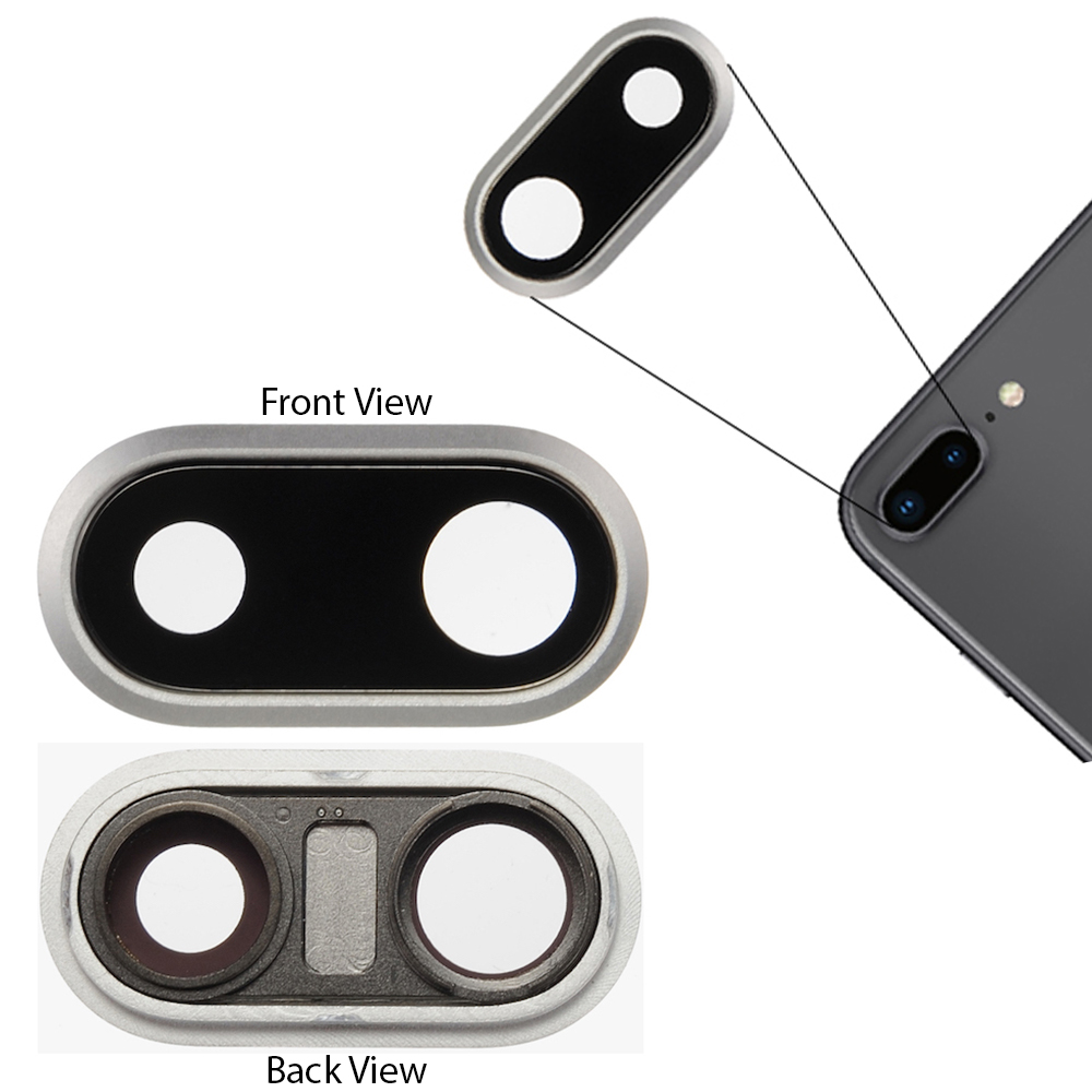 official photos 8a81b c6f1c Details about For Apple iPhone 8 Plus 5.5 Rear Back Camera Lens Cover Glass  Frame Black Part