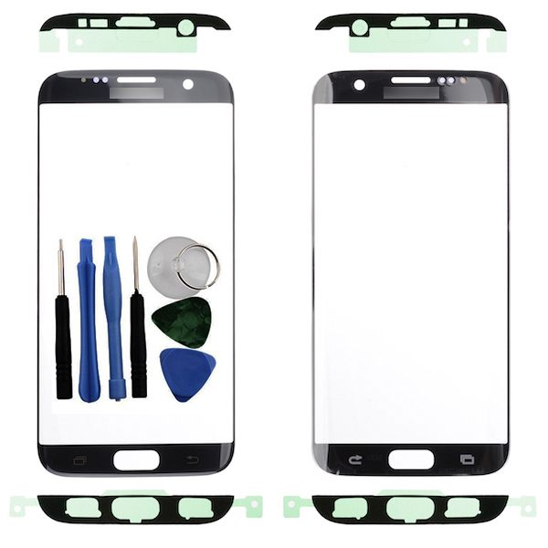 Details about For Samsung Galaxy S7 Edge G935F Front Outer Glass Screen  Black + Adhesive Tools
