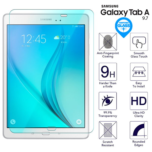 For Samsung Galaxy Tab A 9.7 T550 T551 T555 Tempered Glass Screen Protector Film