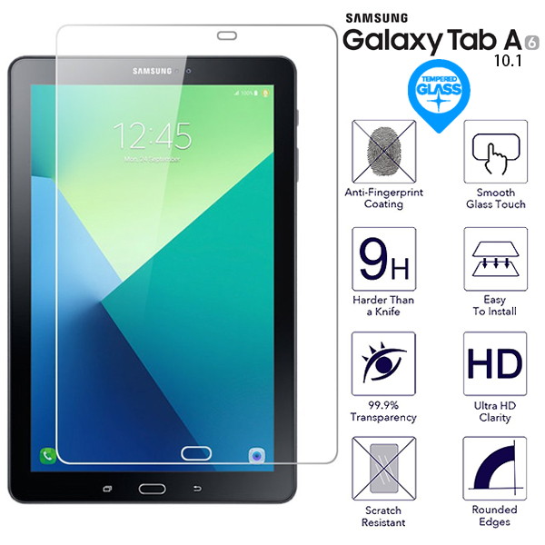 """2X TEMPERED GLASS SCREEN PROTECTOR LCD FILM FOR SAMSUNG GALAXY TAB A 10.1/"""" T580"""