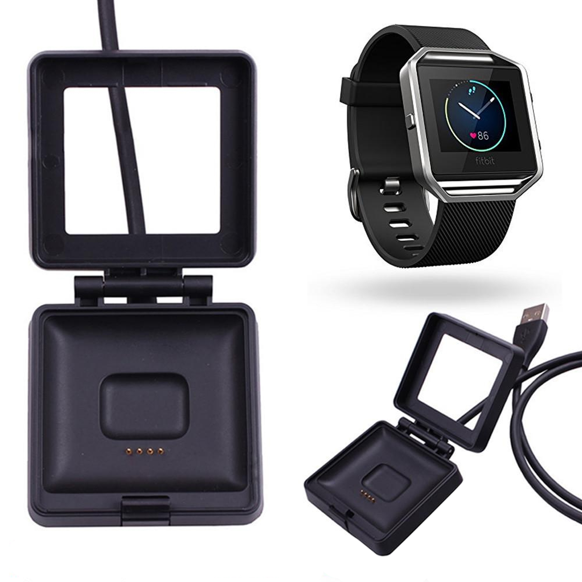 For Fitbit Blaze USB Charging Cable Lead Power Charger Dock Cradle Replacement