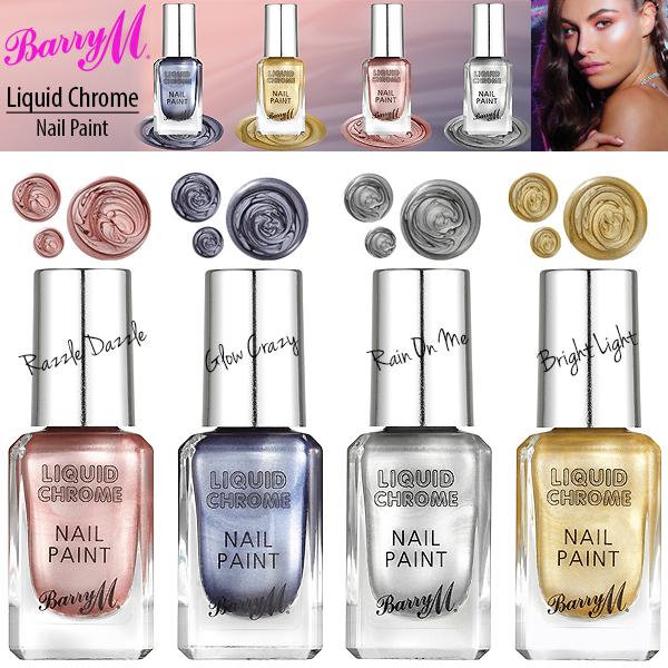 Barry M Makeup Liquid Chrome Metallic Nail Paint Varnish