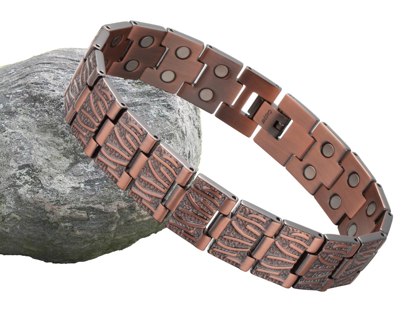 Bracelet femme manchette LINK Pure Cuivre Bio Magnétique Guérison Bracelet antidouleur
