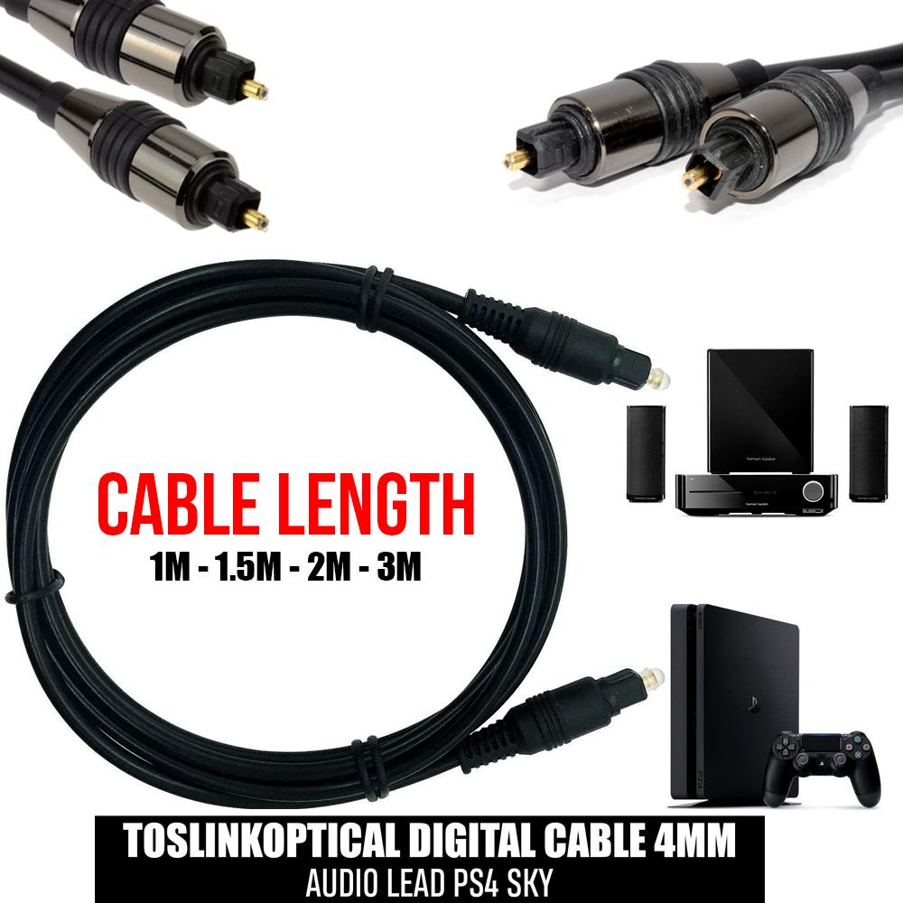 .5m 1m 2m 3m 5m 10m 15m 20m Premium Optical Digital Audio TOSlink Cable 24K Gold