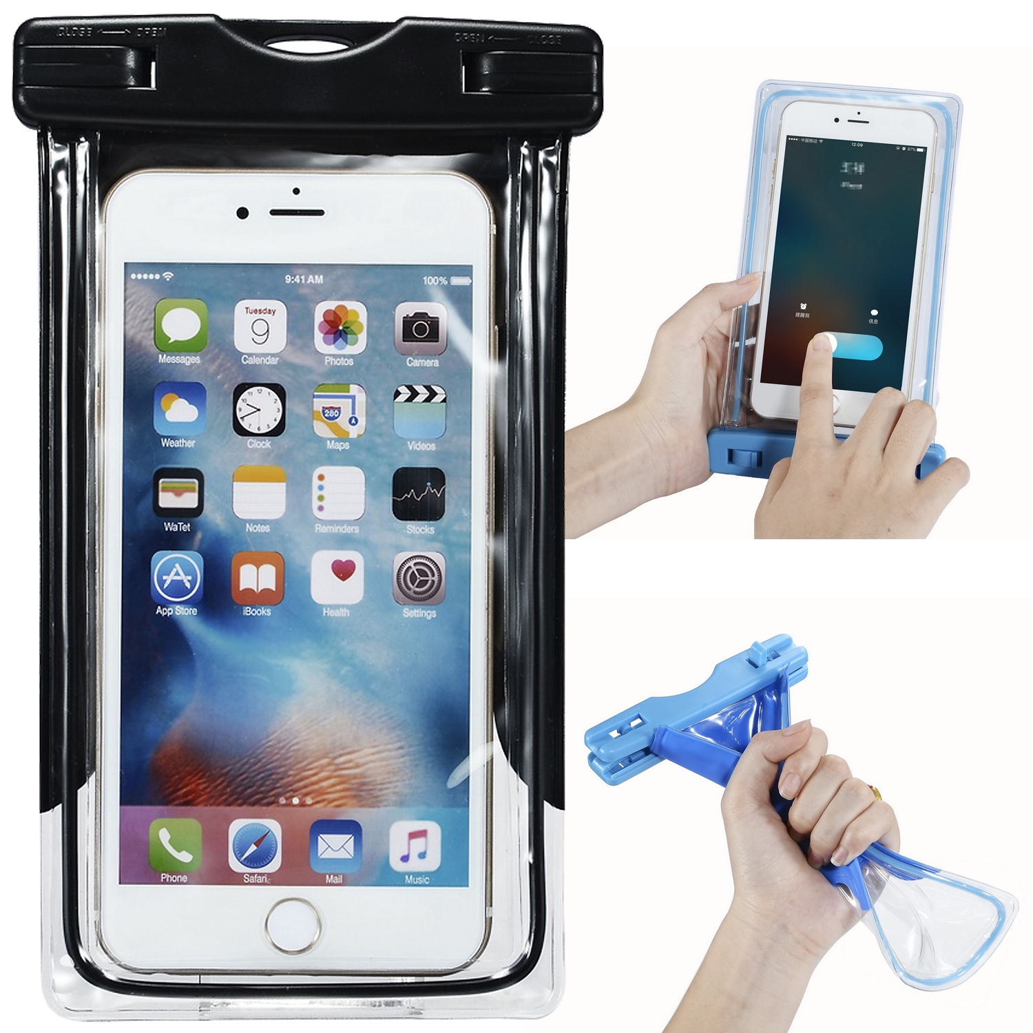 Details about Waterproof Underwater Bag Pouch Dry Case Cover Black For  iPhone Samsung OnePlus