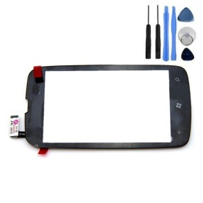 Touch Screen Digitizier Black + 7pc Tool Kit