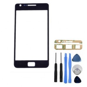 Black Front Replacement Repair LCD Glass Lens for Samsung Galaxy S2 SII GT-i9100