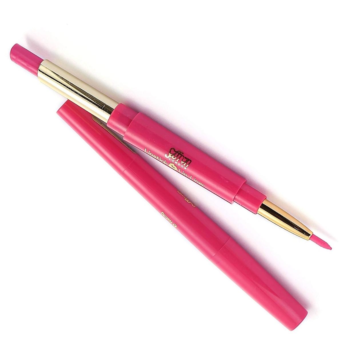 Saffron-London-Lipstick-amp-Lip-Liner-Twist-Up-Creamy-Duo-Makeup-Multi-Colour thumbnail 3