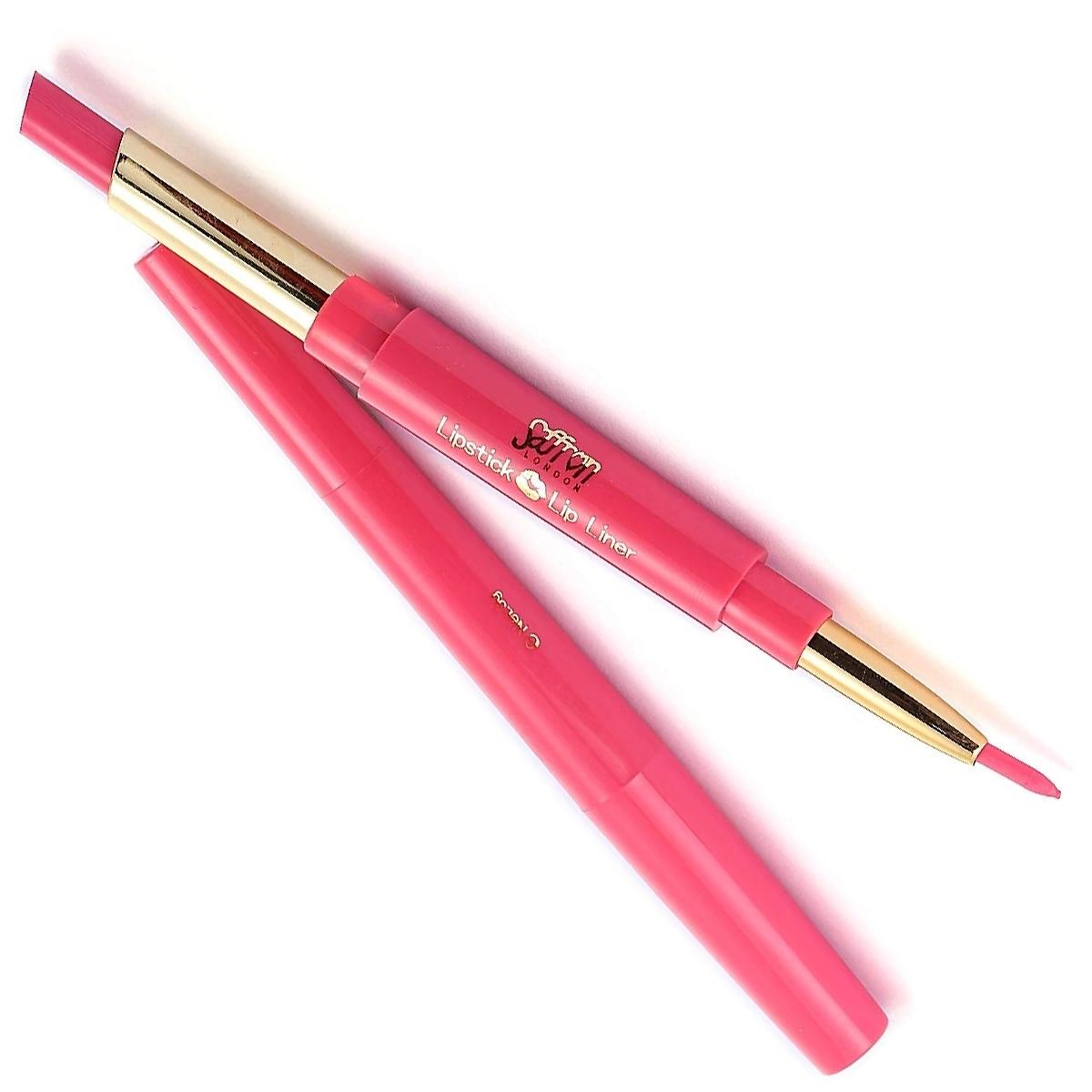 Saffron-London-Lipstick-amp-Lip-Liner-Twist-Up-Creamy-Duo-Makeup-Multi-Colour thumbnail 5