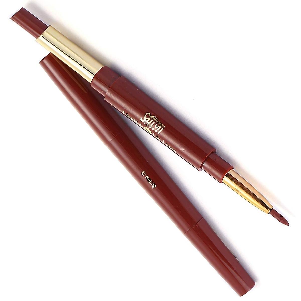 Saffron-London-Lipstick-amp-Lip-Liner-Twist-Up-Creamy-Duo-Makeup-Multi-Colour thumbnail 11
