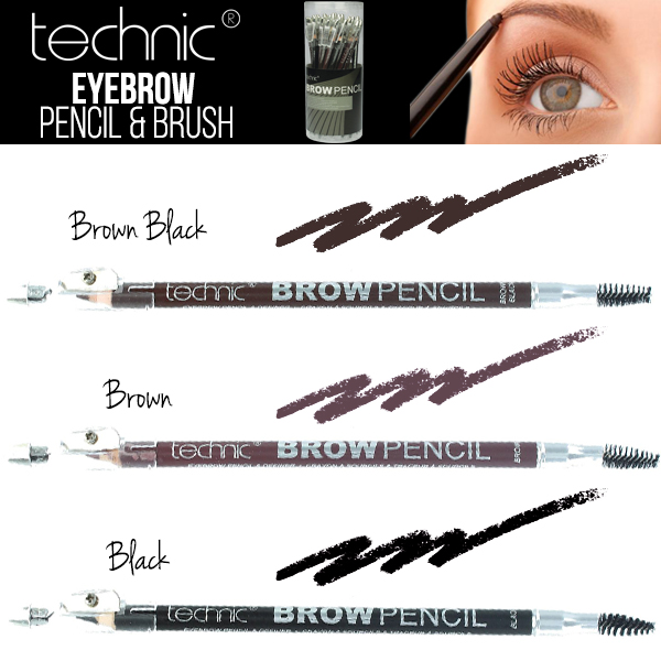Technic Eyebrow Pencil And Brush Includes Built In Sharpener Brow